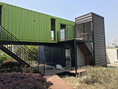 Container home being built